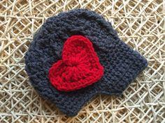 Crochet grey newsboy hat Valentines Day baby by dimplesandarlings