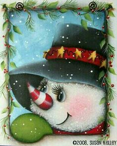 Silly Snowman ePattern - Click Image to Close Christmas Rock, Christmas Canvas, Christmas Snowman, Vintage Christmas, Christmas Ornaments, Country Christmas, Christmas Trees, Father Christmas, Snowman Crafts
