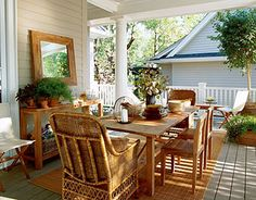 country living | Front porch decorating is all about making a welcoming porch. We have ...