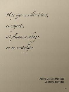 Poesía la eterna brevedad de Adolfo Morales Moncada.  http://www.facebook.com/adolfo.m.moncada