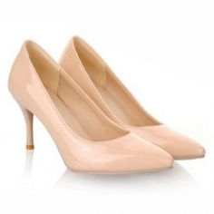 $15.69 Concise Women's Patent Leather Pumps With Pointed Toe Design