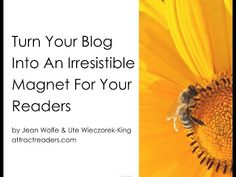 All bloggers want more readers. There are many ways to attract the right readers. Watch our free video to get some ideas about you and your motivations to blog - the starting point for every blogger!