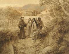 Santa Clara camina hacia Santa María de los Ángeles