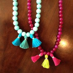 Necklaces with little tassels!