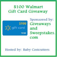 $100 Walmart Gift Card #GIVEAWAY!!!   http://thewigleys.wordpress.com/2012/10/25/100-walmart-gift-card-giveaway/