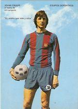 JOHAN CRUYFF*POSTAL NUEVA FC BARCELONA*NUEVA SIN CIRCULAR*AÑOS 70*ORIGINAL*15X10