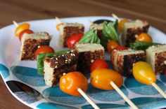 Grilled Cheese and Tomato Skewers | 100 Things You Can Eat On A Stick