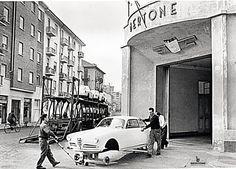 Fotogallery 1954 - Scocca Giulietta Sprint in C.so Peschiera