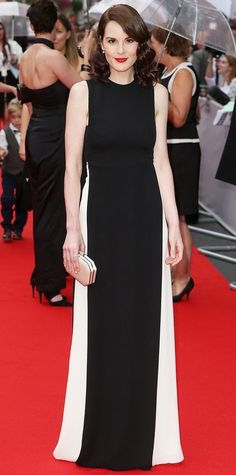 Michelle Dockery in Valentino at the BAFTAs.