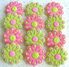 flower cookies | decorated+cookies | ... FLOWERS - Flower Cookie Favors - ... | Cookies