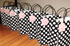 pink black white birthday party