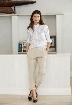 Klassisk bomullsskjorta med söta prickar #elloswomen