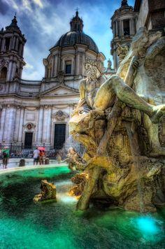 Piazza Navona - Rome, Italy by Scotty Graham