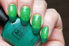 Miss Ashleigh Kryptonite stamped with Picture Polish Shamrock