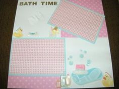 Baby Girl Scrapbook Page Blanks
