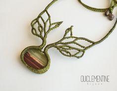 Collar árbol y raíces collar elfo hecho a mano por OuiClementine