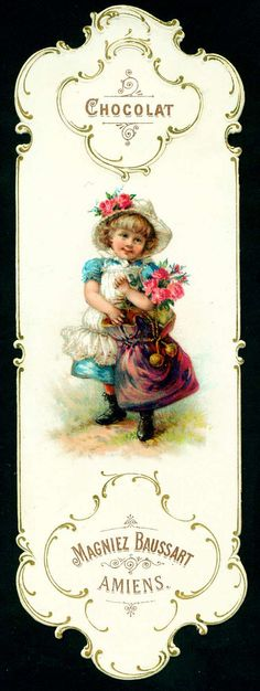 Baussart Chocolat - Bookmark c1890's | Flickr - Photo Sharing!