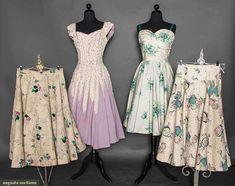 Four Summer Day Garments, 1950s, Augusta Auctions, April 8, 2015 NYC