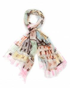 915594e758c17d Regency houses print scarf - CHIEL - Ted Baker Regency House