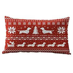 Christmas Pillow CaseBeautyvan Christmas Rectangle Cotton Linter Pillow Cases Cushion Covers E -- Click on the image for additional details.