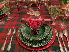 The Last Christmas Table Setting of the Season – Between Naps on the Porch Christmas Table Settings, Christmas Tablescapes, Beautiful Table Settings, Last Christmas, You Are Invited, Place Settings, Beautiful Roses, Alcoholic Drinks, Candle Holders