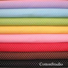 Cosmo Textiles Polka Dot Fabric Fat Quarter Bundle Set Japanese by CottonStudio, $32.00