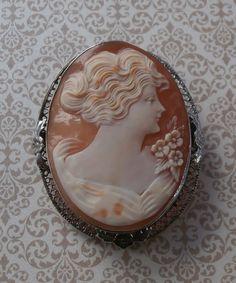 Vintage Victorian Art Deco Shell Cameo by StarliteVintageGems