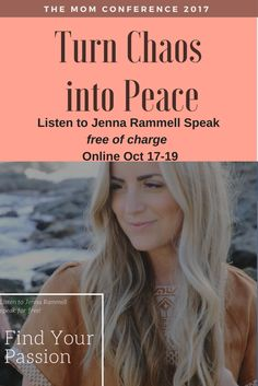 """""""Find Your Passion."""" - Join me at the Mom Conference and you can hear Jenna Rammell's Speech FREE of charge Online Interview, The Twenties, Conference, Finding Yourself, Join, Passion, Free"""