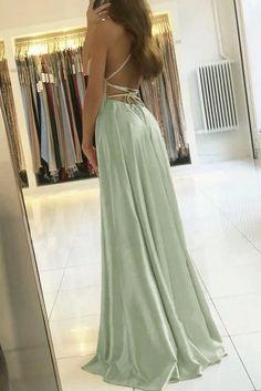 sage green prom dress cg21008 – classygown