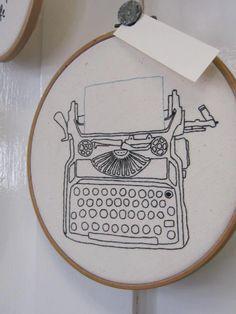 Typewriter. Landbaby at the Bluecoat