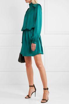 Pierre Balmain | Washed-silk mini dress | NET-A-PORTER.COM