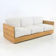 Outdoor sofa, built for comfort and made for simplicity and relaxation, the Soho Sofa is a perfect example of the luxury of high end teak outdoor furniture. Resin Patio Furniture, Spa Furniture, Teak Outdoor Furniture, Pallet Furniture, Furniture Design, System Furniture, Retro Furniture, Furniture Online, Discount Furniture