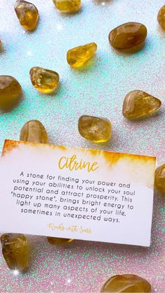 Natural Citrine Tumbled Pocket Stones — Rocks with Sass Crystal Uses, Crystal Magic, Crystal Healing Stones, Stones And Crystals, Minerals And Gemstones, Crystals Minerals, How To Release Anger, I Got A Rock, Fresh Beginnings