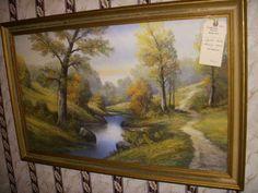 Found on EstateSales.NET: Pastel painting, signed Gunderson