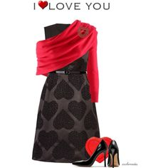 I Love You by archimedes16 on Polyvore featuring moda, Orla Kiely, Coach, Monet and Talbot Runhof