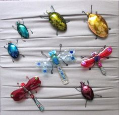 Jewellery made from up-cycled spoons. Beetles £7 and DraggleFlies are £12 (plus p&p) synchronistics.co.uk