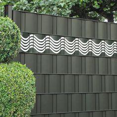 Ganz neu von M-tec technology - die Design Sichtschutzstreifen als dekorative Ergänzung für die Sichtschutzzäune.