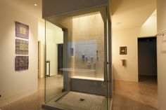Inside Rick Torco S Thermal M Green Home Shower With Dornbracht Faucets And Thermasol Steam Contemporary