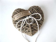 Wedding Ring Pillow/Holder - in WEDDINGS UNVEILED  2013 magazine - reuse as Christmas ornament/keepsake - ORIGINAL design
