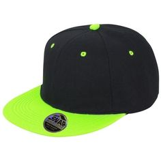 Result Unisex Core Bronx Original Flat Peak Snapback Dual Color Cap ($5.70) ❤ liked on Polyvore featuring accessories, hats, baseball hat, cap hats, snap back cap, snap back hats and flat bill hats