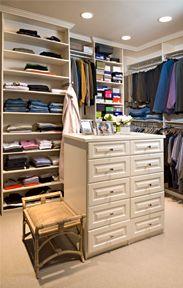 How to organize a shared closet. Closet organization ideas. #closetideas