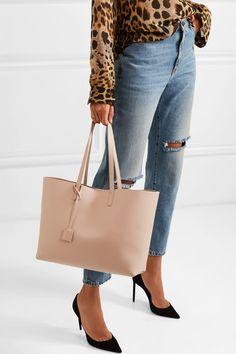 7e5919b6e378 SAINT LAURENT - Shopper large leather tote
