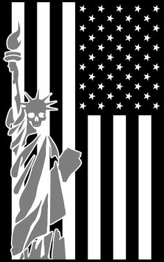 Death or liberty US Reflective Flag Decal by TacticalTextile