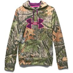 Under Armour Women's Camo Big Logo Hoodie ($75) ❤ liked on Polyvore featuring tops, hoodies, mossy oak obsession, camo hooded sweatshirt, under armour hoodie, camouflage hoodies, logo hoodies ve camouflage hoodie