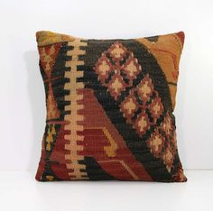 Antique Old Decorative Rustic Turkish Kilim by AnatoliaCollection