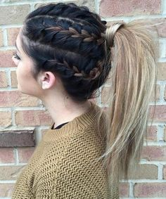 Prettiest Braided Pony Hairstyles 2016 - 2017 for Women