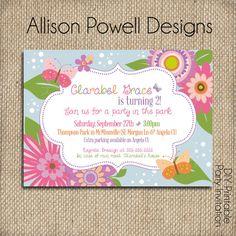 Flowers and Butterflies Garden Party by allisonpowelldesigns