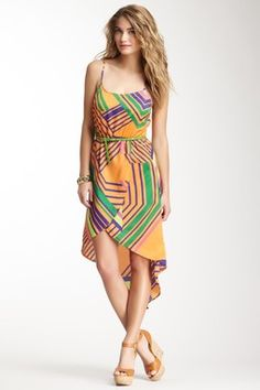 Belted Print Tulip Dress. great pattern.