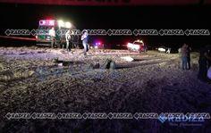 Saucillo, Chih.- Un trágico accidente suscitado en la carretera Naica- Delicias en el que se vio involucrada una banda musical dejó saldo