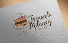 Baking Logo Design, Cake Logo Design, Branding Design, Logo Doce, Cafe Menu Design, Cute Bakery, Foil Business Cards, Cake Decorating Frosting, Cute Food Art